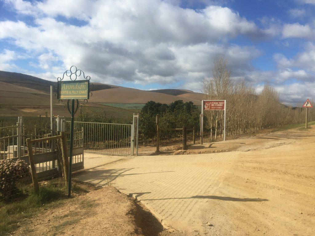 The entrance gate to underhill farm